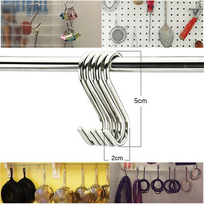 2Pcs Premium S Hook Small Shaped Hook Heavy Duty Stainless Steel Hanger Hooks
