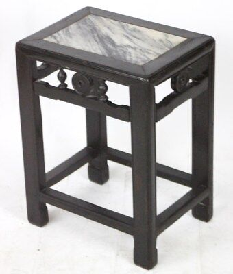 Victorian Chinoiserie Marble Top Display Plant Stand - FREE Shipping [PL3107]