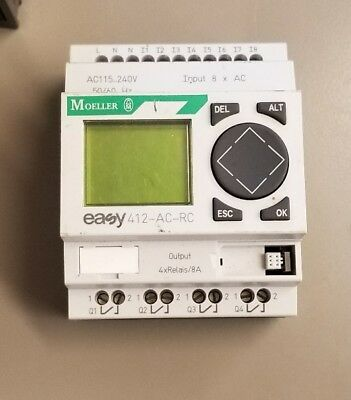 Moeller Easy 412-Ac-Rc Programmable Controller