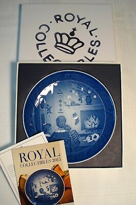 Royal Copenhagen 2015 Christmas Plate, Christmas Day's NEW IN BOX with papers