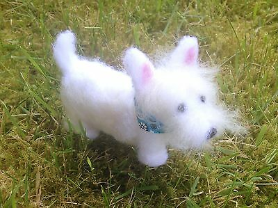 Westie Figurine (west Highland White Terrier), Handmade, One Of A Kind