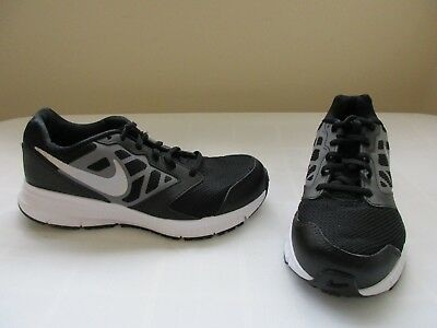 New Boy's Nike Downshifter 6 Athletic Shoes 684979-003 Black/Grey/White 30L