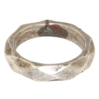 (1744)Vintage silver ring from north india