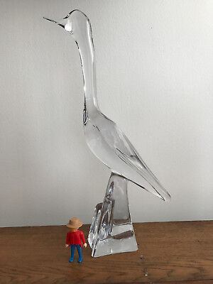 cristal daum grand oiseau sculpture 46 cm