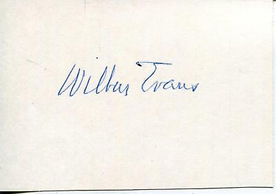 Wilbur Evans Broadway / Movie Actor In Lost In Space Signed Page Autograph