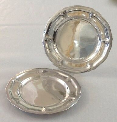 "Pair Vintage Sanborns Mexico Sterling Silver 4 1/2"" Round Plates ~ 124.2 grams"