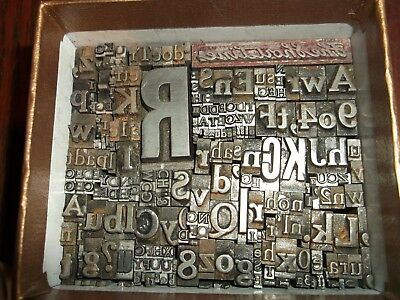 LOT OF 225 + PIECES LETTERPRESS PRINTERS TYPE LETTERS NUMBERS LEAD BLOCKS No.40