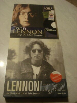 John Lennon Books With Cd/life Is What Happens 2010 & Lennon Legend 2003