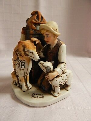 """Norman Rockwell """"Friend's In Need"""" NR-213 Figurine - Excellent Condition"""