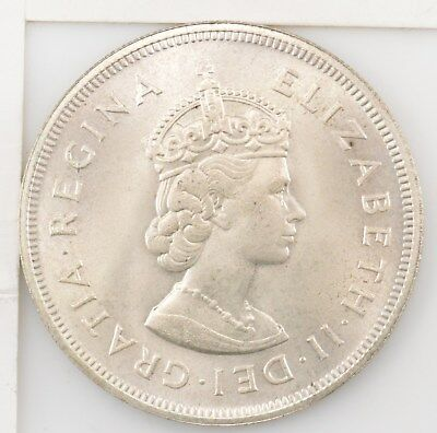 1959 Bermuda Silver Crown Queen Elizabeth II *4251