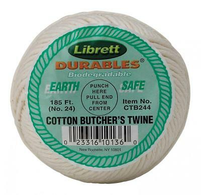 Cooking Twine Cotton Butcher's 185' Feet String, Kitchen Chef, Meat Poultry NEW