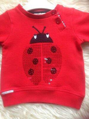 So Stunning 6-9 M 'next' Red Ladybird Sequin Jumper Worn Once Low/comb P&p 10P!