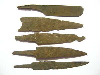 Lot of 5 Ancient Roman Iron Knives