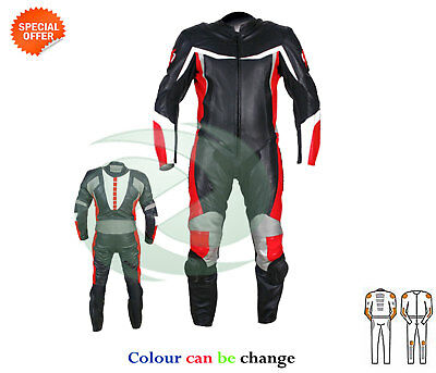 Black one piece racing leather suit any size riding suit for racing track armour