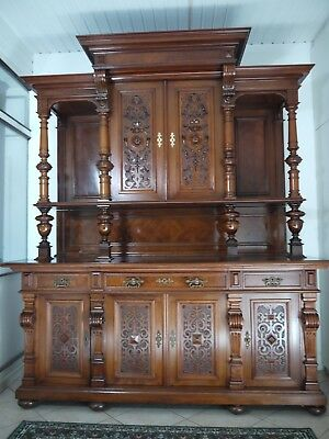 franz sisches buffet anrichte schrank aus eiche massiv renaissance eur. Black Bedroom Furniture Sets. Home Design Ideas