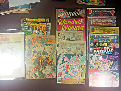 56x Silver Age DC comics Assorted issues and condition Brave and Bold #7, 12