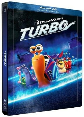 Blu ray steelbook lenticulaire Turbo 2D/3D édition Française New & Sealed NEUF