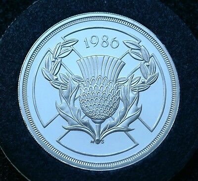 British - 1986  Silver Proof Two  Pounds - Commonwealth Games
