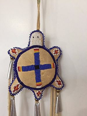Native American Turtle Fetish Beaded Handmade