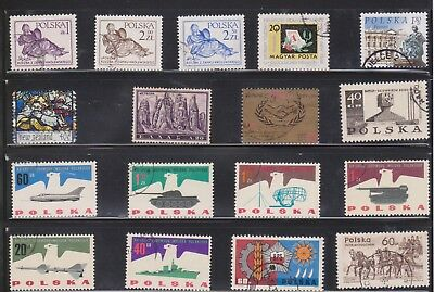 (U31-2) 1950-60s Poland mix of 59 stamps value to 4Z.50 (B)