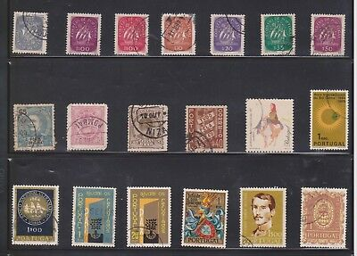 (U31-20) 1940-90s Portugal mix of 35 stamps valued to 7e.50 (B)