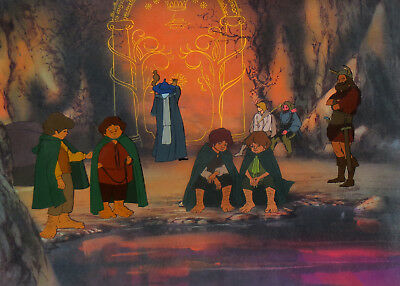 THE LORD OF THE RINGS ART: ORIGINAL RALPH BAKSHI ANIMATION CELS+Free Autograph