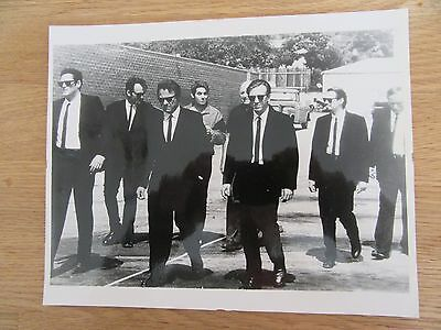 Original large glossy photograph from the film set of Reservoir Dogs 1992
