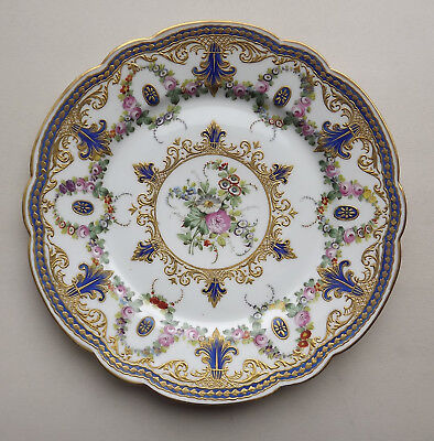 SEVRES PLATE XVIIIe -  LOUIS XV - FROM FRANCE
