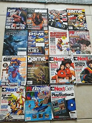 Lot of 15 Video Game Magazines EGM PSM Game Informer PS Extreme Next Gen 1998+