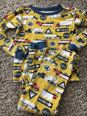 Carters Brand Construction Truck Road Sign 2 Piece Pajama Set Boys 5T