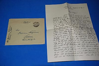 1918 World War, German Captain Field Post Vintage old Letter WWI, Antique yy 22
