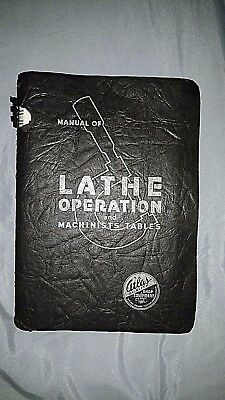 Original Atlas Craftsman Manual Of Lathe Operation And Machinists Tables