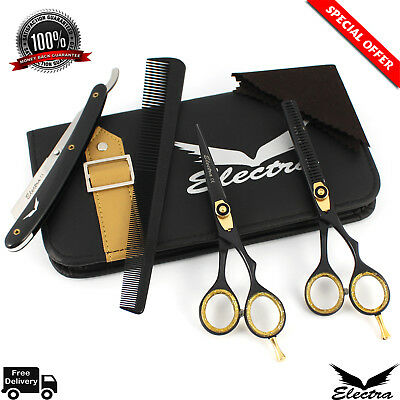 Salon Barber Hairdressing Hair Cutting Thining Shears Scissors Set