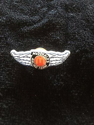 McDonald's Racing Team Pin back for Hat or Lapel Wings and Golden Arches