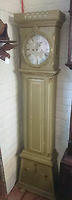 19th Century Danish Painted Pine Longcase Clock