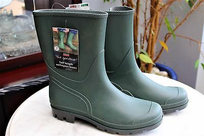 Town & Country Essentials Half Length GARDENER Wellington Boots SIZE 12 EUR 47