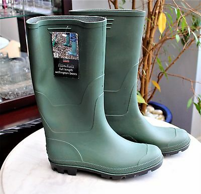 Town & Country Essentials FULL Length Wellington Boots SIZE 12 EUR 47 WATERPROOF