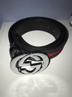 UA Gucci Belt Size 36-38 Amazing Condition Red And Green Stripe