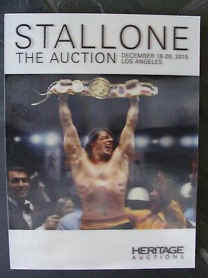 Heritage Auctions Catalog Sylvester STALLONE The Auction Dec.18-20 2015 3D Cover