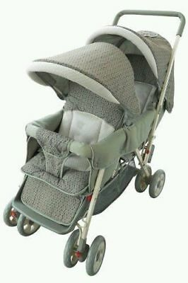 Foldable Twin Baby Double Stroller Kids Jogger Travel Infant AmorosO Green new