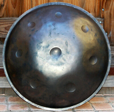 Handpan Totem music  ,Do min Penta (Cm penta) ,7 notes, acier brut