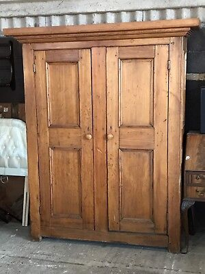 A 19th Century Double French Antique Pine Armoire