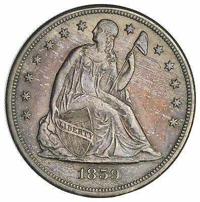 1859-O Seated Liberty Silver Dollar - Circulated *1875