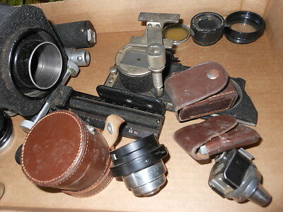 vintage germany e leitz wetzlar camera large lot of pieces parts
