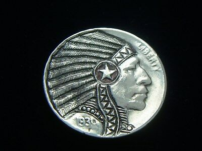 1930-P  Hobo Nickel - Indian Chief