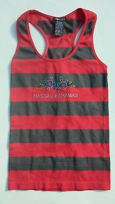 Soho Girl's Size Small S Jeweled Pink Striped Tank Top Shirt Girls Clothes Kids