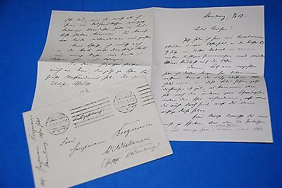 1918 World War, German Captain Field Post Vintage old Letter WWI, Antique yy 23