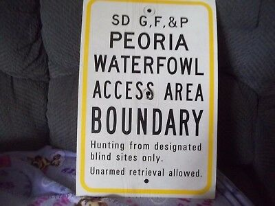 SD GF&P Peoria Waterfowl Access Area Boundary Hunting From Designated Sites Sign