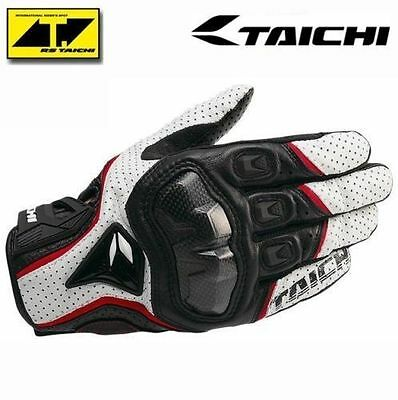 RST390 NEW Mens Motorcycle  Perforated leather Mesh Gloves RS Taichi white M