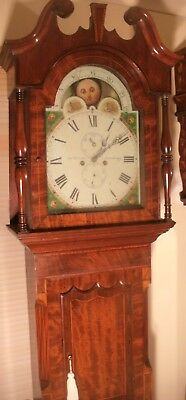 "Antique Mahogany ""  Stourbridge "" Moon Dial Longcase / Grandfather Clock"